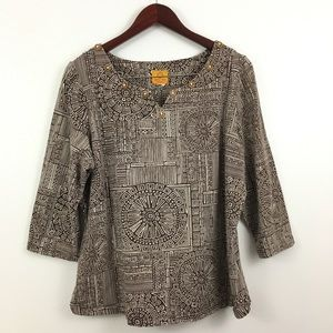 2/$20 Ruby Rd Pullover Blouse